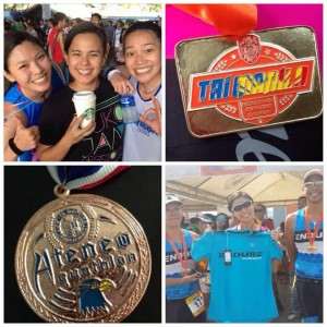 Back-to-back race. Tri Manila-Ateneo Aquathlon.